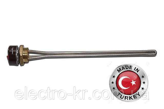 """Тен радіаторний з терморегулятором 2 кВт на різьбі 1 1/4"""" [Sanal, Туреччина]"""