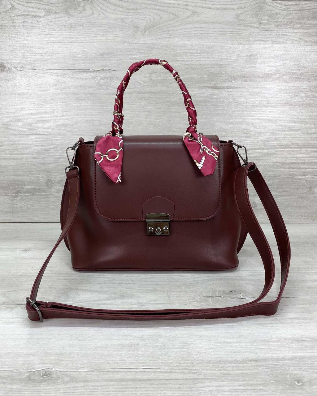 Стильная женская сумка клатч, стильный клатч, женская сумочка «Лиам» бордовая