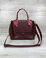 Стильная женская сумка клатч, стильный клатч, женская сумочка «Лиам» бордовая, фото 1