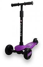 Самокат Maraton Baby Star (Бузковий) зі складним кермом і педаллю заднім гальмом