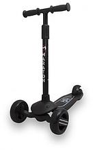 Самокат Maraton Baby Star (Чорний) зі складним кермом і педаллю заднім гальмом