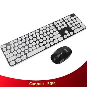 Бездротова клавіатура з мишкою UKC HK3960 - Безпровідний комплект клавіатура і миша для ПК та ноутбука