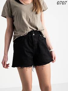 Чорний джинсові шорти на гумці (норма 6 шт 25-30)