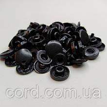 Кнопка Альфа для одежды 12.5 мм. Кнопка № 54. Упаковка (100шт.) Оксид (черный).