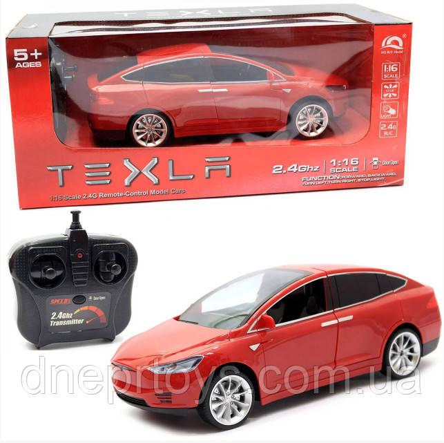 Машинка на радиоуправлении Тесла красная, 1:16, световые эффекты (HQ20149)