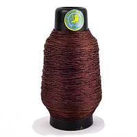 Нитка взуттєва капронова 375 текс 300 грам (0.75 мм) коричнева - кручена нитка шевська