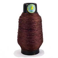 Нитка взуттєва капронова 187 текс 300 грам коричнева - кручена нитка шевська