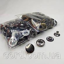 Кнопка Альфа для одежды 12.5 мм. Кнопка № 54. Набор (2 цвета по 25 шт.)   Антик, Блек Никель.
