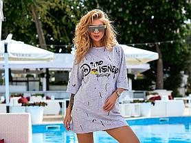 Платье футболка турция дисней, Молодежное летнее платье футболка Турция