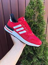 Червоні кросівки чоловічі замшеві з сіткою, фото 2