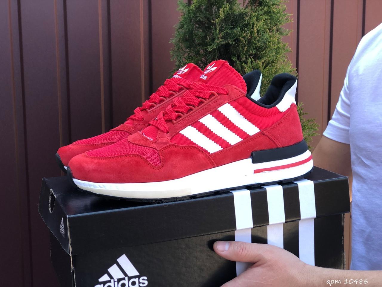Червоні кросівки чоловічі замшеві з сіткою