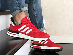 Червоні кросівки чоловічі замшеві з сіткою, фото 3