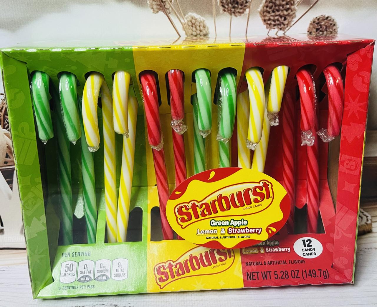 Конфеты-трости Candy Canes вкус желеек Starburst