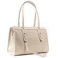 Классическая женская сумка А. Rai сумочка из натуральной кожи бежевого цвета, фото 1