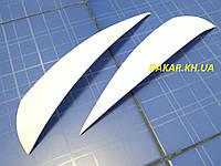 Реснички для автомобильных фар ВАЗ 2170 Приора белые ANV Air. Тюнинговые накладки для фар Priora