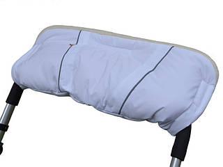 Муфта на овчине для коляски и санок, с липучками (Белый), Kinder Comfort