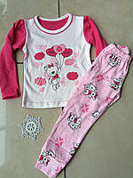 Детская трикотажная пижамка для девочки ТМ Фламинго 245 модель рост 110,116, фото 1