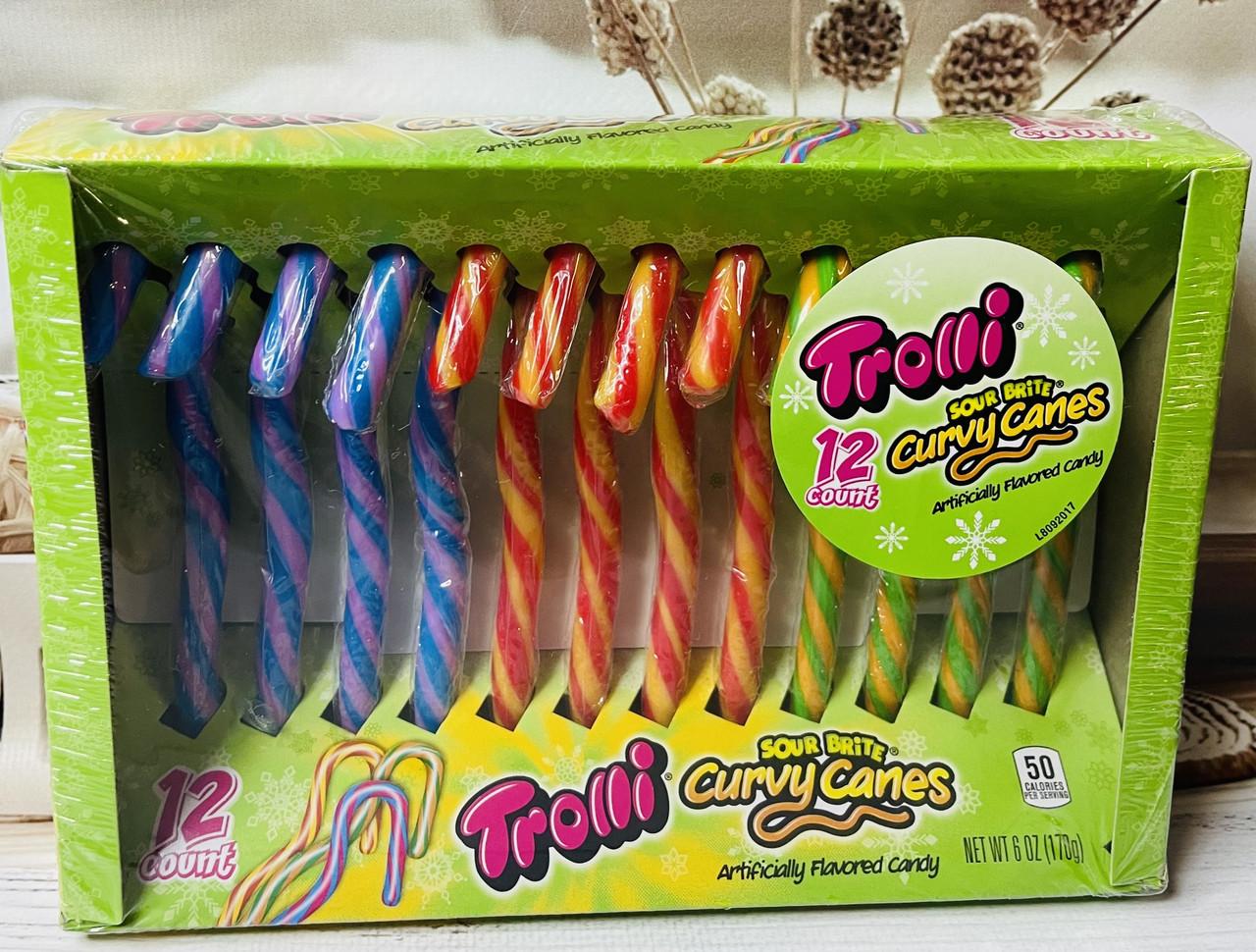 Фруктовые конфеты трости Candy Canes Trolli