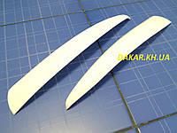 Реснички для автомобильных фар ВАЗ 1118 Калина I прямые белые  ANV Air. Тюнинговые накладки для фар Kalina