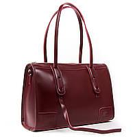 Классическая бордовая женская сумка А. Rai сумочка из натуральной кожи на каждый день, вместительная, фото 1