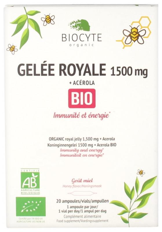 Маточное молочко и ацерола Biocyte Gelée Royale 1500 mg + Acérola Bio 20 ампул