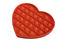 Антистресс PopAr сенсорная игрушка Оранжевое сердце