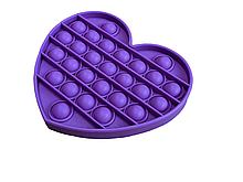 Антистресс PopAr сенсорная игрушка Фиолетовое сердце