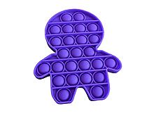 Антистрес PopAr сенсорна іграшка Фіолетовий чоловічок
