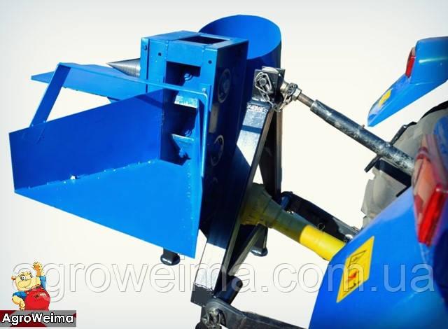 Дровокол (измельчитель веток под бензиновий двигатель без двигателя, без конуса, двустороння заточка ножей)