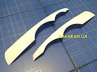 Реснички для автомобильных фар ВАЗ 1118 Калина I фигурные белые ANV Air. Тюнинговые накладки для фар Kalina