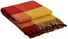 Lb Шерстяной плед Vladi Эльф Желто-Красно-Бордовый 1 Полуторный 140х200 M53-239835