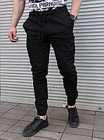Чёрные мужские брюки-джоггеры S,M,L,XL,XXL