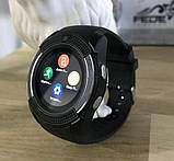 Сенсорні Smart Watch V8 смарт годинник розумні годинник ЧОРНІ, фото 2