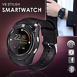 Сенсорні Smart Watch V8 смарт годинник розумні годинник ЧОРНІ, фото 3