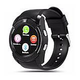 Сенсорні Smart Watch V8 смарт годинник розумні годинник ЧОРНІ, фото 6