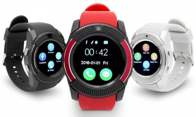 Сенсорні Smart Watch V8 смарт годинник розумні годинник ЧОРНІ
