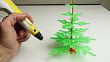 3D ручка з LCD дисплеєм Pen 2 3Д принтер для малювання ЖОВТА, фото 7