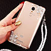 """Чохол зі стразами з кільцем прозорий протиударний TPU для Sony Xperia Z1 Compact D5503 """"ROYALER"""", фото 4"""