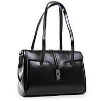 Стильная черная женская сумка А. Rai сумочка из натуральной кожи на каждый день, вместительная, фото 1