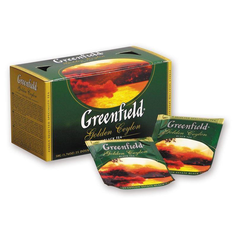 Чай в пакетиках черный Greenfield Golden Ceylon 25 п.