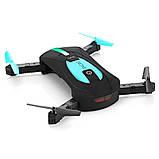 Квадрокоптер селфи-дрон JY018 Mini HD, Автовзлёт / автопосадка, фото 7