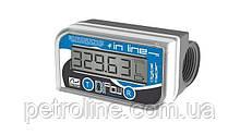 Электронный счетчик IN-LINE для дизельного топлива, масла, 10—150 л/мин, +/-1%