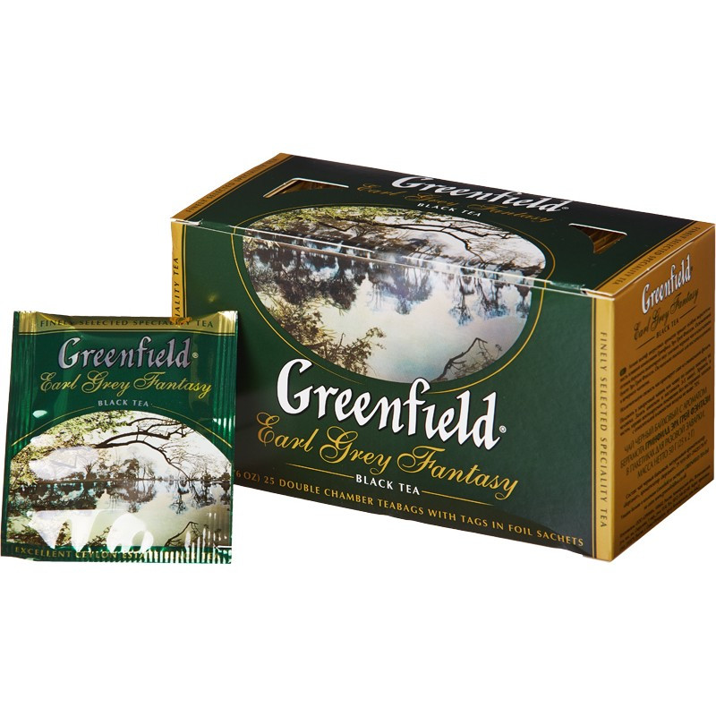 Чай в пакетиках черный Greenfield Earl Grey Fantasy 25 п.