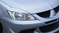 Реснички на фары Mitsubishi Lancer 9 с 2004-2010 г.в., фото 1