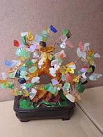 Дерево счастья с камнями (20х15х17 см.)