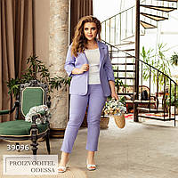 Костюм двойка штаны укороченные  + пиджак, в цвете