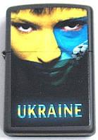"""Зажигалка ZIPPO 218-US """"Лицо болельщика сборной Украины"""""""