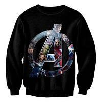 "Свитшот с рисунком 3D ""Avengers - Мстители, Логотип"""