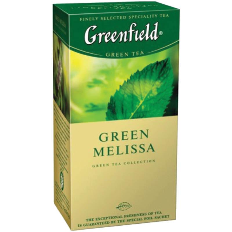 Чай в пакетиках зеленый Greenfield Green Melissa 25 п.
