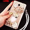 """Чехол со стразами с кольцом прозрачный противоударный TPU для Sony Xperia Z2 D6502 / D6503 """"ROYALER"""", фото 6"""